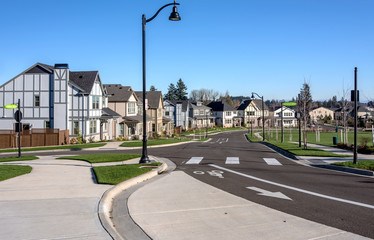 Row of houses in Wilsonville Oregon.