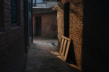 Narrow street Fotomurales