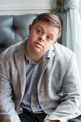 Handsome Man with Intellectual Disability