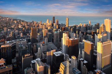 Wall Mural - Chicago cityscape in America