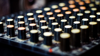 vintage music mixing console