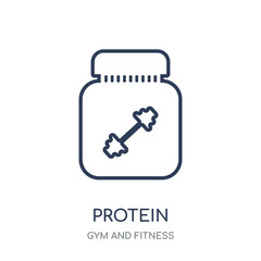 Protein icon. Protein linear symbol design from Gym and Fitness collection.