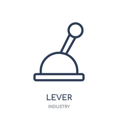 Lever icon. Lever linear symbol design from Industry collection.