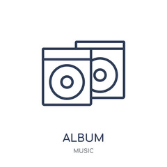 Album icon. Trendy Modern Simple Album linear symbol design from music collection.