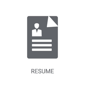 Resume icon. Trendy Resume logo concept on white background from Human Resources collection
