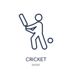 Cricket icon. Cricket linear symbol design from sport collection.