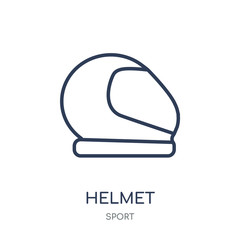 Helmet icon. Helmet linear symbol design from sport collection.