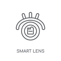 Smart lens linear icon. Modern outline Smart lens logo concept on white background from Artificial Intellegence and Future Technology collection