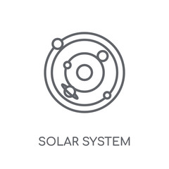 Solar system linear icon. Modern outline Solar system logo concept on white background from ASTRONOMY collection