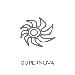Supernova linear icon. Modern outline Supernova logo concept on white background from ASTRONOMY collection