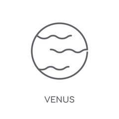 Venus linear icon. Modern outline Venus logo concept on white background from ASTRONOMY collection