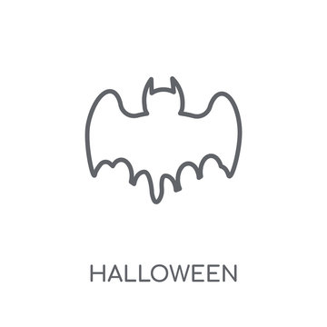 Halloween linear icon. Modern outline Halloween logo concept on white background from Birthday party and wedding collection