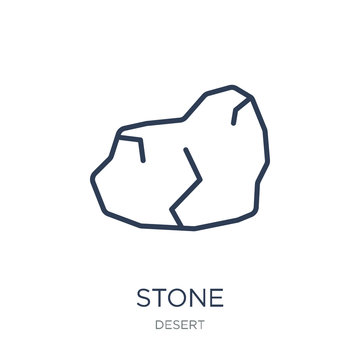 Stone icon. Trendy flat vector Stone icon on white background from Desert collection