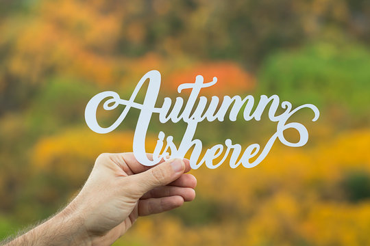 Autumn is here paper letters.