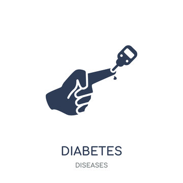 Diabetes icon. Diabetes filled symbol design from Diseases collection.