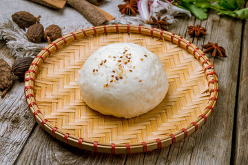 Bao bun on plate