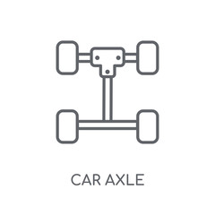 car axle linear icon. Modern outline car axle logo concept on white background from car parts collection