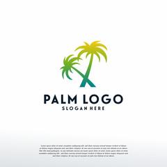 Palm Tree logo designs template vector, Travel Logo designs, Logo symbol