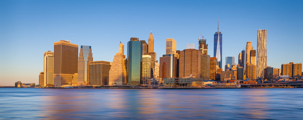 The skyline of Lower Manhattan, New York City, USA