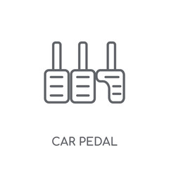 car pedal linear icon. Modern outline car pedal logo concept on white background from car parts collection