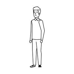young and casual man character