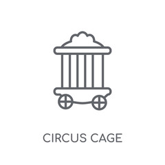 Circus Cage linear icon. Modern outline Circus Cage logo concept on white background from Circus collection