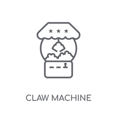 Claw machine linear icon. Modern outline Claw machine logo concept on white background from Circus collection