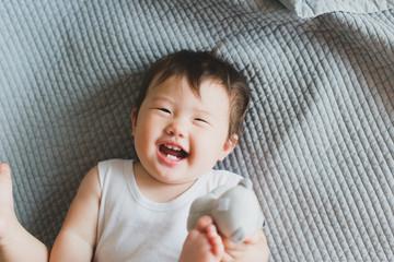 Happy baby looking at camera