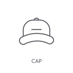 Cap linear icon. Modern outline Cap logo concept on white background from Clothes collection