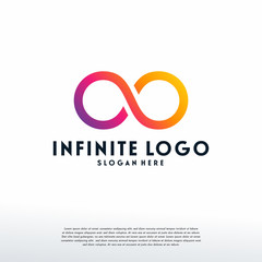 Infinity Logo designs template, Infinite logo symbol vector, Logo symbol icon