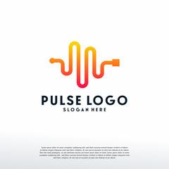 Pulse Logo designs template, Heartbeat logo symbol, Logo symbol icon