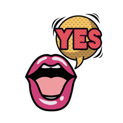 lips saying yes avatar character