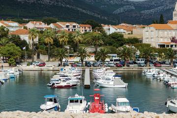 Small harbor at the Croatian coastline
