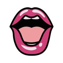 open lips avatar character