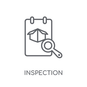 Inspection linear icon. Modern outline Inspection logo concept on white background from Delivery and logistics collection