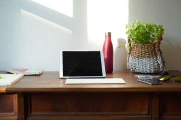 View of modern home workspace