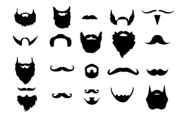 Set of 20 Beards & Mustaches