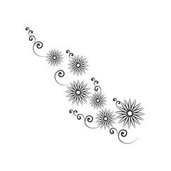 decorative flowers, hand draw illustration