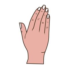 open hand receiving avatar character