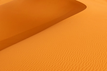 Sand dune in Sahara desert, Erg Chebbi, Merzouga, Morocco