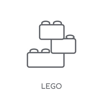 Lego linear icon. Modern outline Lego logo concept on white background from Entertainment and Arcade collection
