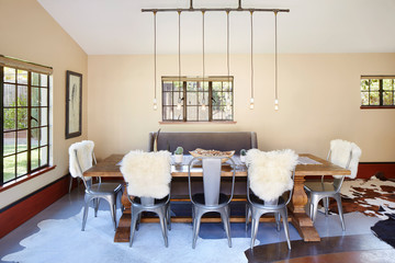 Dining room in home in California