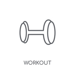 Workout linear icon. Modern outline Workout logo concept on white background from Gym and Fitness collection