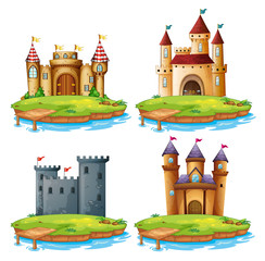 Set of different castle