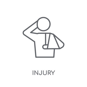 Injury linear icon. Modern outline Injury logo concept on white background from Health and Medical collection