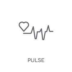 Pulse linear icon. Modern outline Pulse logo concept on white background from Health and Medical collection