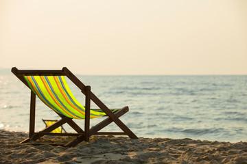 Chair with beach,beach chair on the beach