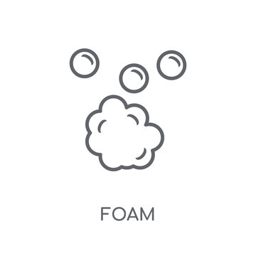 Foam linear icon. Modern outline Foam logo concept on white background from Hygiene collection