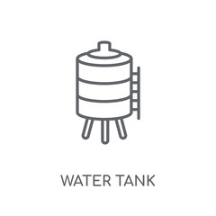 Water tank linear icon. Modern outline Water tank logo concept on white background from Industry collection