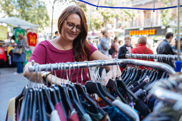Shopping at an Outdoor Market
